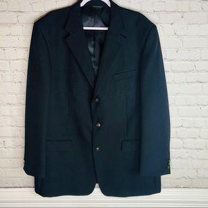 Bolzano   46L Sport Coat Blazer Suit Jacket Black